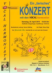 Konzertplakat 25.4.2015